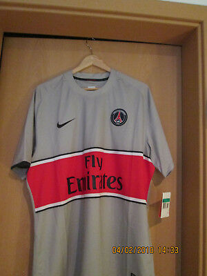 Nike Trikot Paris Fly Emirates in XL grau Neu & OVP