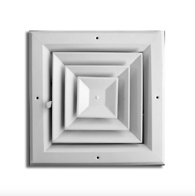 10 in Air Vent Ventilation System Grille Duct HVAC Ceiling Diffuser Damper 4 Way