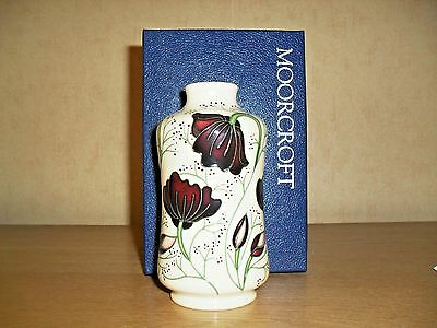 Moorcroft  Chocolate Cosmos design by Rachel Bishop...1st quality..Boxed