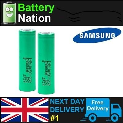 Samsung 18650 Battery INR IMR High Drain 3.7 25R 2500mAh 20 35A Li-Ion