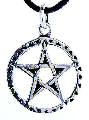Pentagram Guardian Magic 925 Sterling Silver Pendant Amulet including Ribbon No.