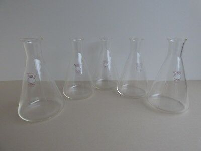 Lot of Five - Monax Conical Flask - 250ml