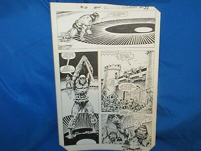 Original Art Jim Shooter Signed Conan the Barbarian Annual 10 page 33 SS
