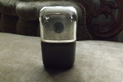 Vintage Silver Plated EPBM & Leather Hip Flask