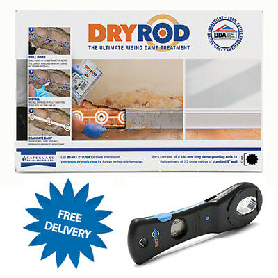 Dryrod Damp Proofing Rods Pack of 50 Rising Damp Treatment C/W £9.99 CUTTER