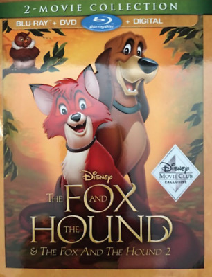 The Fox and the Hound 1 & 2 Blu-ray+DVD+Digital HD Exclusive Disney Movie NEW!!!