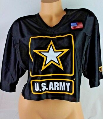611978f257663 VICTORIA'S SECRET PINK U.s.army Collegiate Collection Shirt Cropped ...