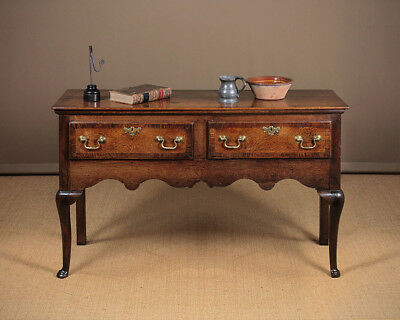 Antique George III Oak Open Dresser Base c.1800.