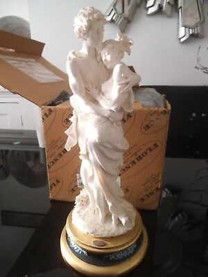 Boxed Giuseppe Armani Figurine Lovers Heart & Soul Capodimonte Florence Italy