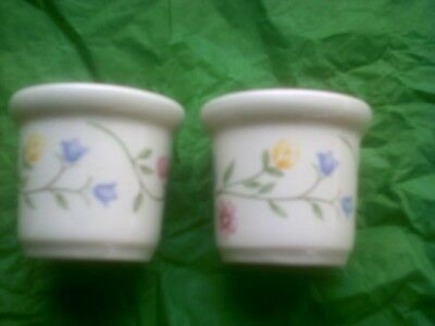 pair johnson brothers summer chintz egg cups