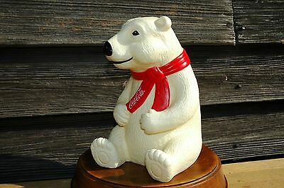"Coca Cola The Snack Factory Inc. 8"" high Polar Bear Piggy Bank Coke Secret Santa"