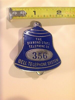 Telephone Badge The Diamond State Telephone Bell System