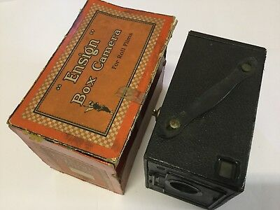 ENSIGN 2 1/4 B Vintage Box Camera - In Original Box.