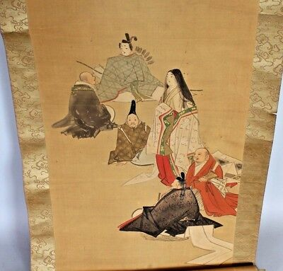 A Hanging Scroll Painting on Silk Depicting Kwannon