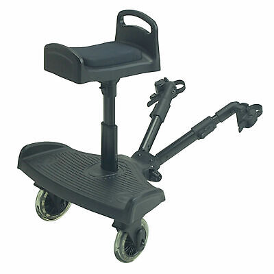 Ride On Board With Saddle Compatible With Maclaren Stroller Buggy Pram - Black