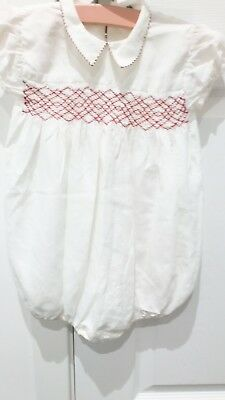 Vintage Smocked Romper Baby Suit, 1950S Little Boys Outfit, Royal Baby Style