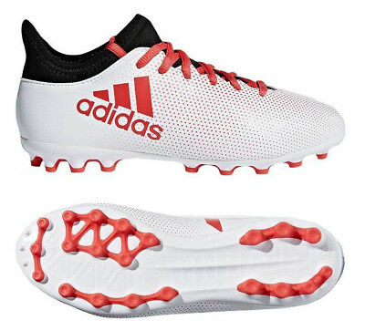 035d417a5 Adidas Kids Football Shoes Boys Boots X 17.3 AG Youth Cleats White New  CP9001