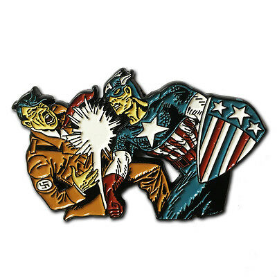 CAPTAIN AMERICA Punch A Nazi Enamel Pin  golden age #1 avengers jack kirby