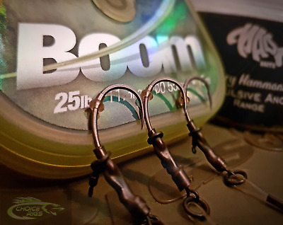 "3X ""spinner Rigs"" (Ronnie Rigs) - ""korda Boom"" Lengths Included - (Krank Hooks)"