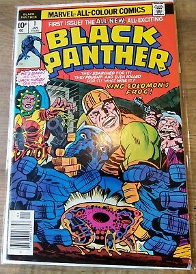 Black Panther UK issue #1 VF/NM 9.6 1977 Jack Kirby Marvel Comics