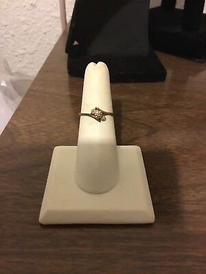 Vintage 10k Yellow Gold Diamond Accent Ring - Antique Old Signed GTR