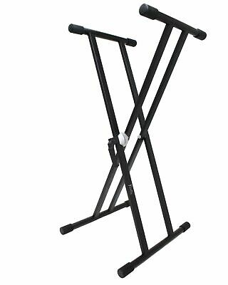 Koda Double X Keyboard Stand with Circular Toothed Locking Mechanism