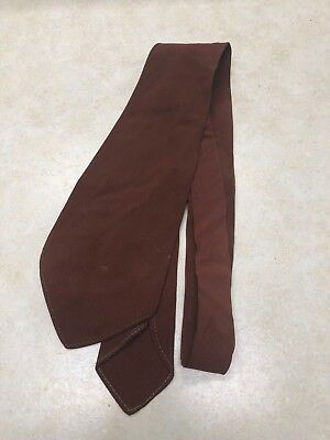 1950's Boy Scout / Explorer Brown Dress Tie