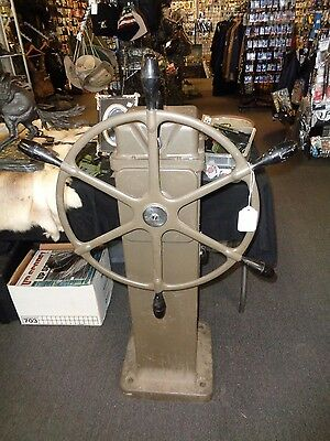U.S. Navy Steering Station Manufactured by Sperry- Ship's Wheel- Helm  1943-1947