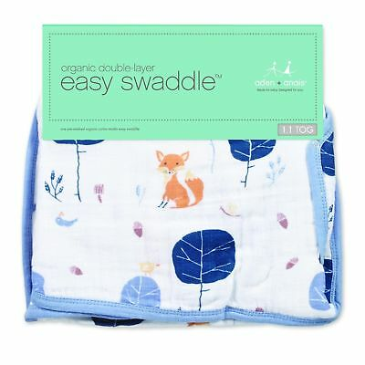 Aden and Anais Organic Easy Swaddle - Into The Woods (S/M)
