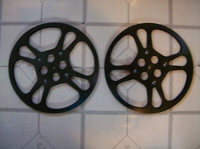 2X1200ft super 8mm BLACK METAL reels RARE!! LOOK!!