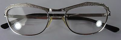 VINTAGE AMOR FRANCE EYEGLASSES 135 48 FRAME 20 mm WHITE GOLD FILLED