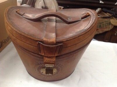 ANTIQUE GENTLEMAN'S SILK TOP HAT LEATHER CASE ONLY Boyd Transfer & Storage Ry Co