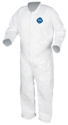 Dupont TY120S Tyvek Coverall W/Collar Zipper Front Open Sleeves Bunny Suit M-3X