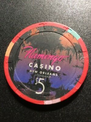 Flamingo $5 Casino Chip- New Orleans -Free Shipping