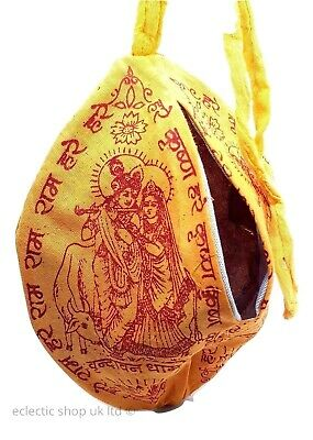 Krishna Prayer Puja Japa Mala Bag Hindu Chant Yoga Meditation Hare Rama UK