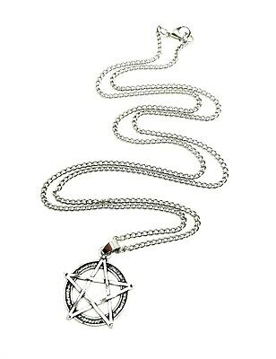 """Pentagram Pentacle 30"""" Extra Long Chain Necklace Wiccan Pagan Gothic Pendant"""