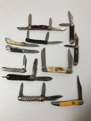 Vintage Pocket Knife Lot Of 11 Knives For One Money