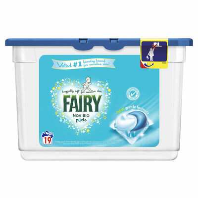 P&G Professional Fairy Non Bio Laundry Liquid Tablet Pods 2 Packs (38 Washes)
