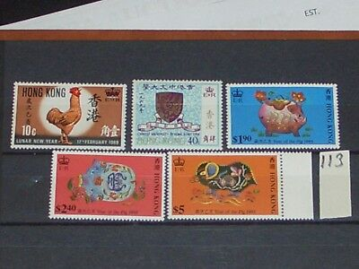 early Hong Kong stamps mint never hinged full gum A