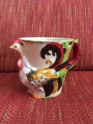 New Pier 1 Rooster Coffee Pottery Mug Rare Discontinued Cup Bird