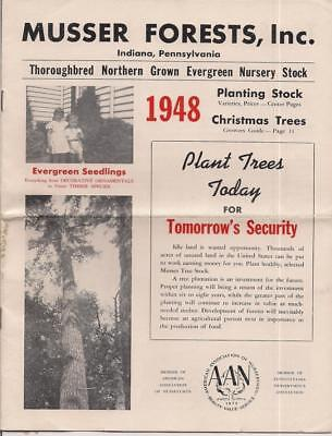 Musser Forests Inc~Nursery Catalog 1948~Indiana,Pennsylvania~Christmas Trees VG
