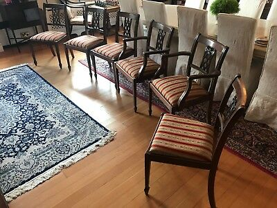 Reproduction Antique Dining Chairs Set of Six