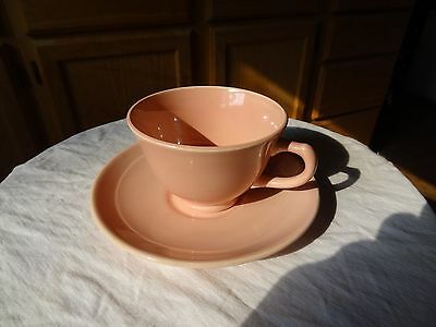 LuRay  Cup & Saucer Pink