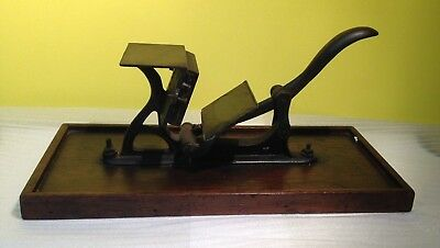 Antique   HARVARD NO. 2 Cast Iron Hand Operated Table Top Printing Press  1890's
