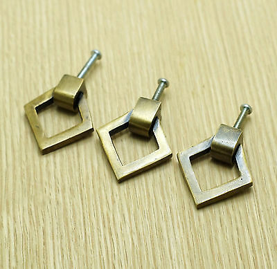 Set of 3 pcs vintage Triangle Retro Solid Brass Cabinet handle Pulls KNOB