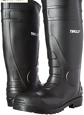 "Tingley 31151 General Purpose 15"" PVC Boots Plain Toe Cleated Outsole Size 12"