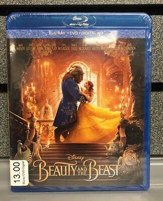 Beauty and The Beast |  Bluray/DVD/Digital HD | NEW | Ships Fast