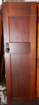 "2 Pane Solid Wood Brown Door Original Antique 79"" x 27"" Excellent"