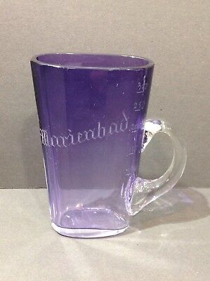 "Moser spa glass. amethyst to clear. ""Marienbad"" 300 ml. antique"