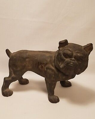 Antique Hubley Cast Iron English Bulldog Door Stop Doorstop